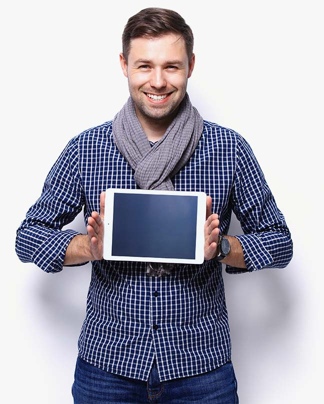 man-holding-tablet